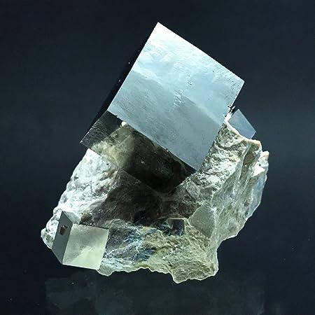 Pirita cubo en gris basalto de navajun, España – PB16: Amazon.es: Hogar