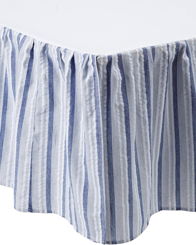 C&F Home Nantucket Stripes Dust Ruffle, Blue Multi, King