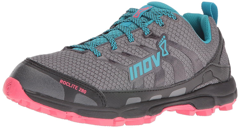 Inov-8 Women's Roclite 280 Trail Runner B01G7ZNQ2U 10 E US|Dark Green/Teal/Pink