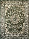New City Sage Green Traditional Isfahan Wool