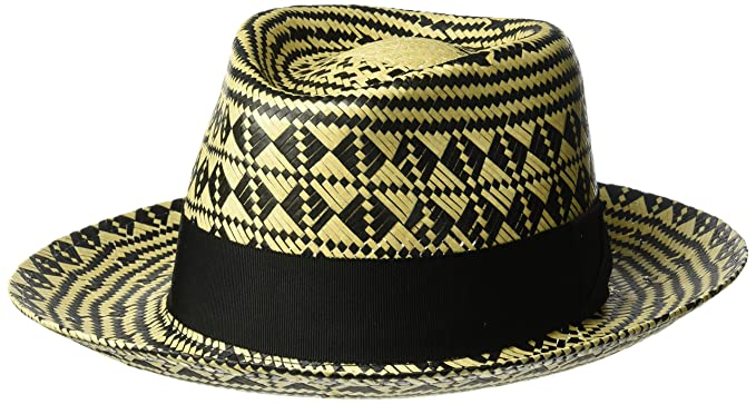 16c23d61a56 Bailey of Hollywood Men s Hartley Contrast Patterned Weave Fedora ...