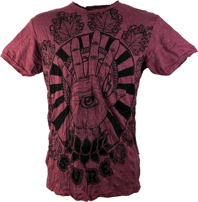 GURU-SHOP Seguro Camiseta Ojo Mágico, Algodón, Camisetas Sure`