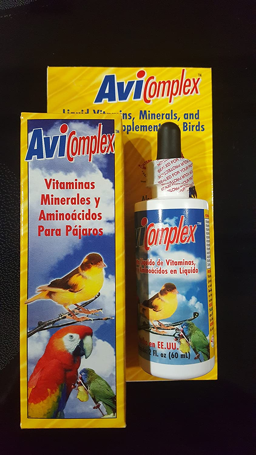 Amazon.com : AVICOMPLEX LIQUID VITAMINS MINERALS &AMINOACIDS SUPPLEMENT FOR BIRDS & SMALL ANIMALS : Pet Supplies