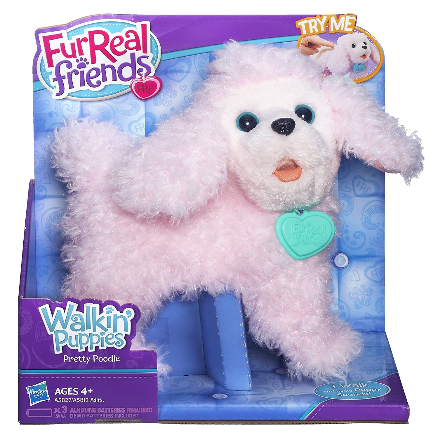 Amazon FurReal Friends Walkin Puppies Pretty Poodle Toy Plush