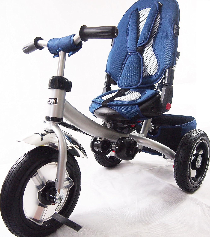 Nuevo diseño poco tigre 4 en 1 Niños triciclo Triciclo con asiento giratorio, respaldo reclinable: Amazon.es: Juguetes y juegos
