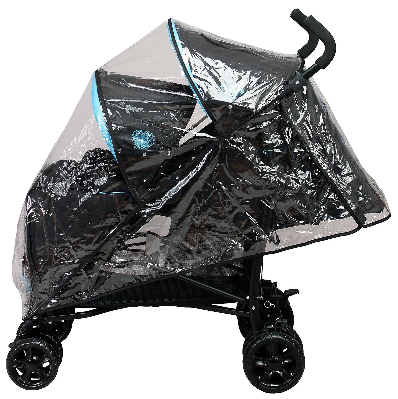 Bambisol - Cochecito doble para bebé, color negro/turquesa: Amazon.es: Bebé