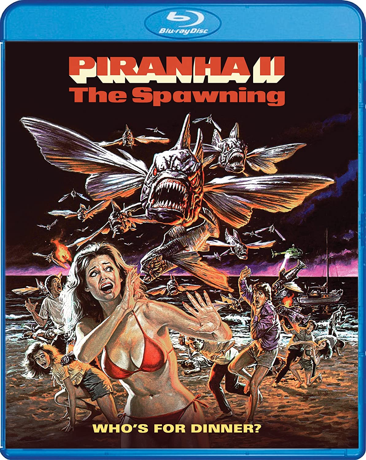 Piranha II: The Spawning [Blu-ray] Leslie Graves Ricky G. Paull Ovidio G. Assonitis James Cameron