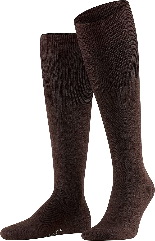 FALKE Mens Airport Knee-High Dress Sock - Merino Wool/Cotton Blend, Multiple Colors, US sizes 6.5 to 15, 1 Pair