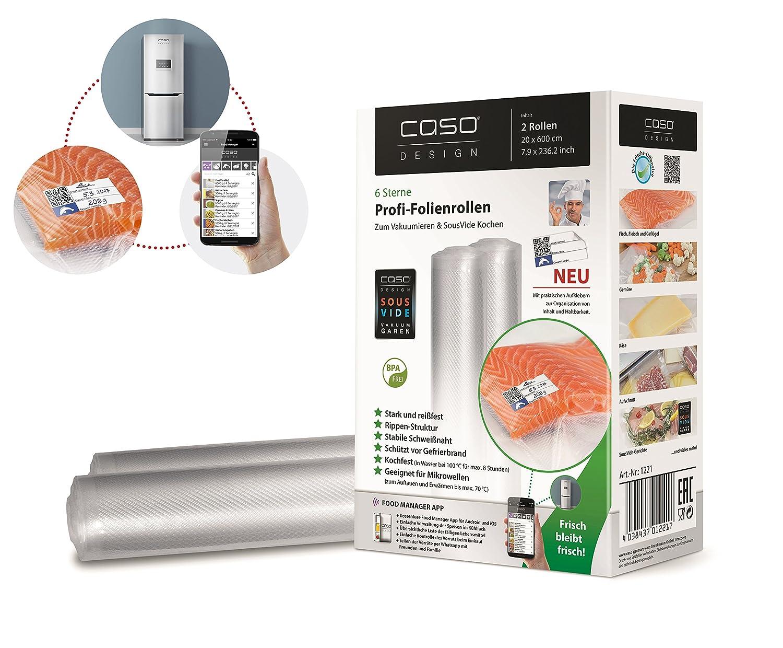 Amazon.de: CASO Profi- Folienrollen 20x600 cm (1221) / 2 Rollen mit ...