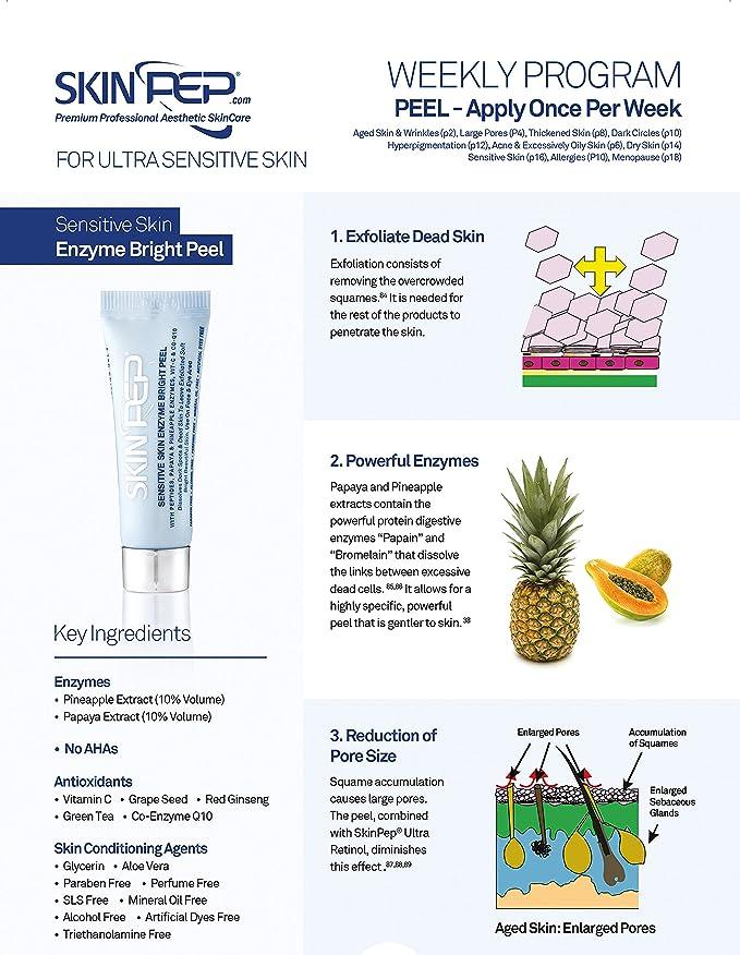 skinpep® piel sensible enzima brillante Peel: Amazon.es: Belleza