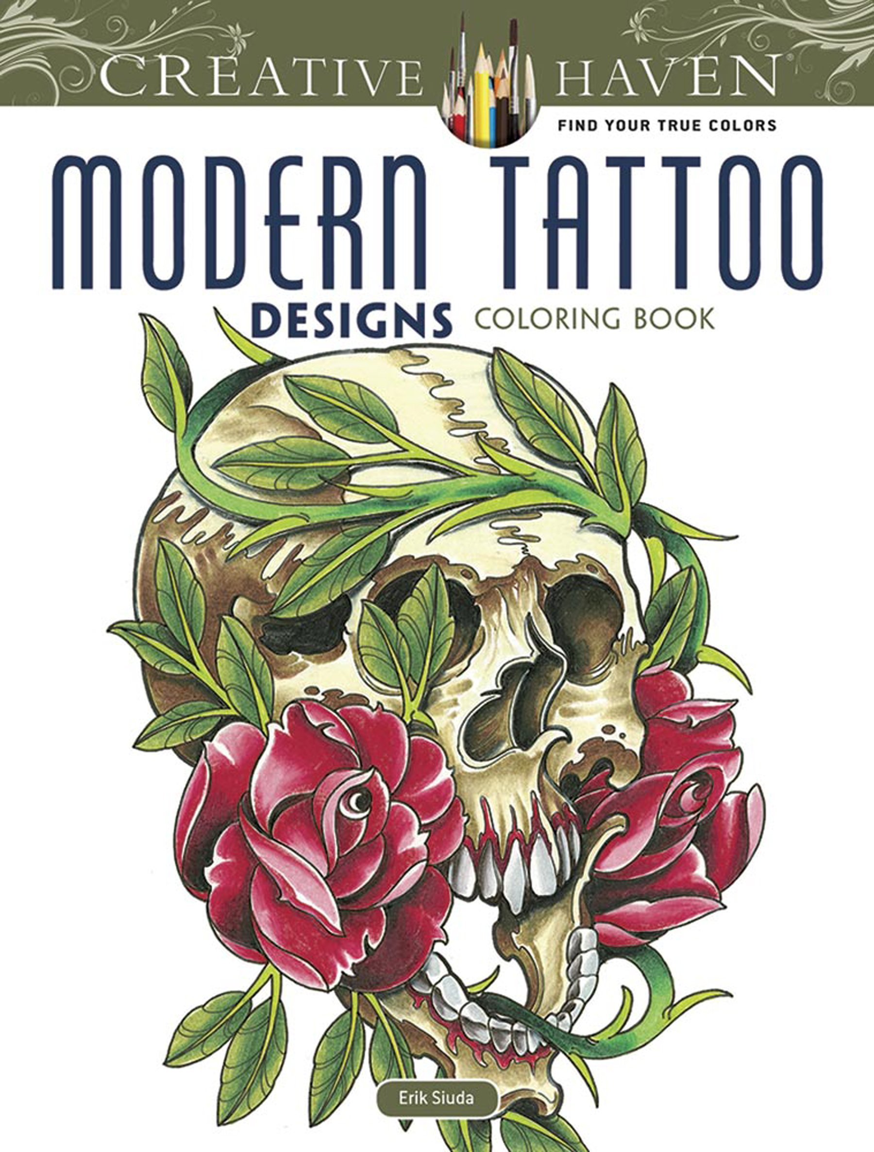 Creative Modern Tattoo Designs Coloring product image