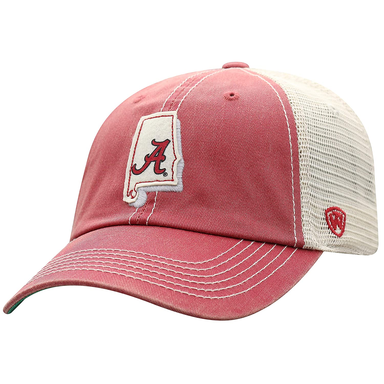 4be3cd0d806 Amazon.com   Top of the World NCAA Alabama Crimson Tide Men s Elite Fan  Shop Off Road Mesh Back Hat