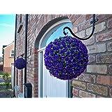 2 Best artificial 28 cm morado rosa para colgar bolas de jardín de flores **Rayos UV protegido**