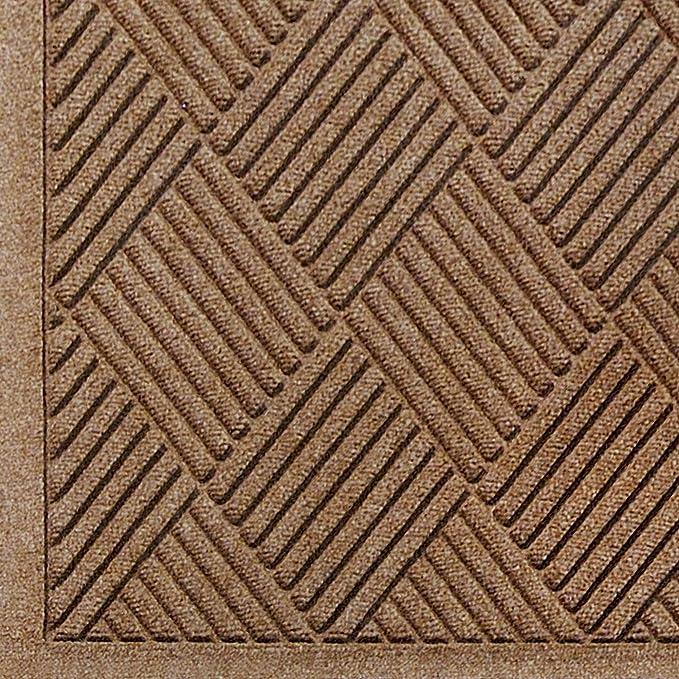 M+A Matting 237 Light Green Polypropylene WaterHog Inlay Fashion Fabric Border Logo Mat 4 Length x 3 Width For Indoor//Outdoor 4/' Length x 3/' Width 237-153-4F3F