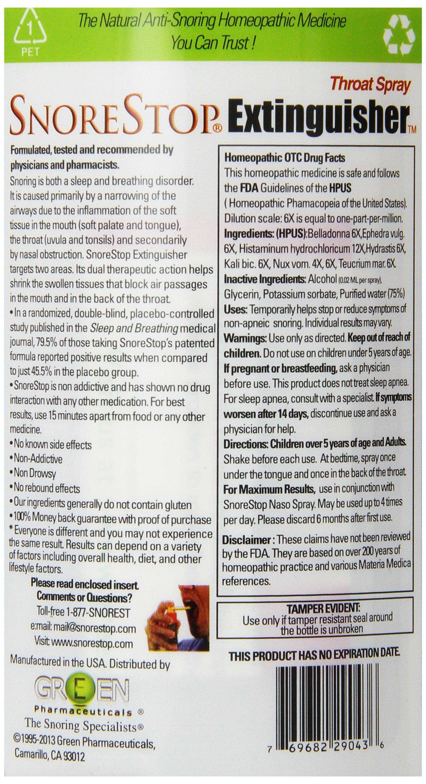 SnoreStop Extinguisher 60 Snoring Solution Pack of 2 by Snorestop