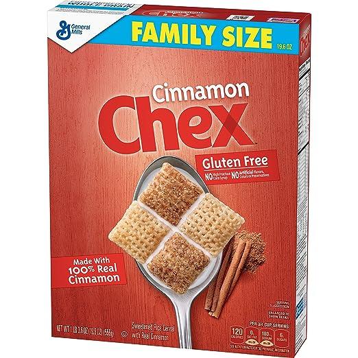 Cinnamon Chex, Gluten Free Cereal Family Size 19.6 oz box