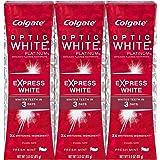 Colgate Optic White Platinum Express White Toothpaste 3oz 3 pack