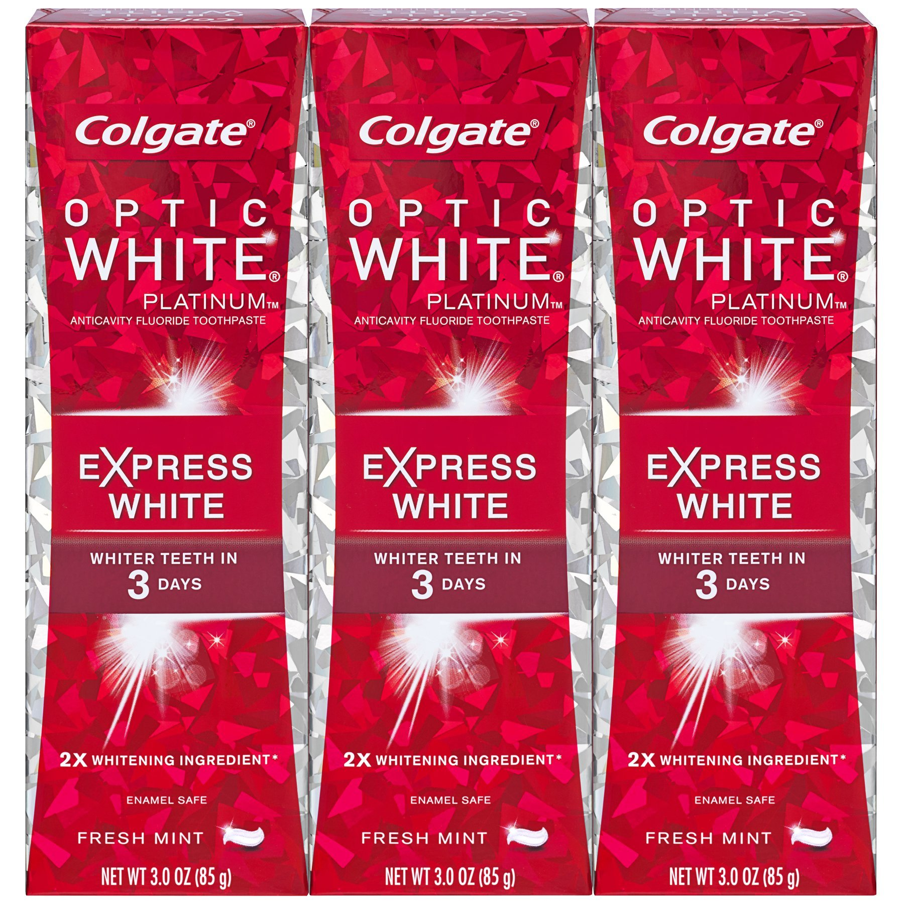 Colgate Optic White Express White Whitening Toothpaste - 3 ounce (3 Pack) by Colgate (Image #1)