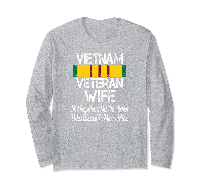 Vietnam Veteran Wife Shirt Blessed to Marry My Hero-fa