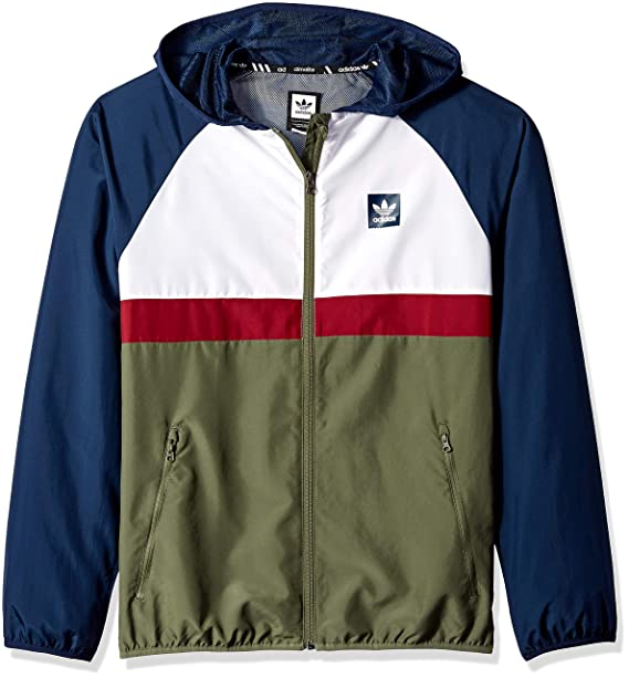 adidas Originals Mens Skateboarding Blackbird Packable Wind Jacket