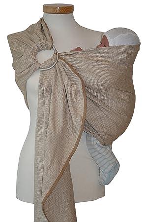 Storchenwiege - Echarpe ringsling leo nature - 1 écharpe - écharpe porte- bébé, douceur 93a3087e467
