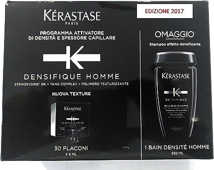 Kerastase - K Densifique Homme 6 x 30 ml y Bain densité homme 250 ...