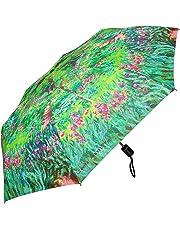"Rainstoppers W3523 Open Auto Close Mini Print Monet Secret Garden Arc, 42"", Multi"