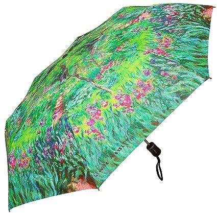 RainStoppers W3523 Open Auto Close Mini Print Monet Secret Garden Arc,  42u0026quot;, ...