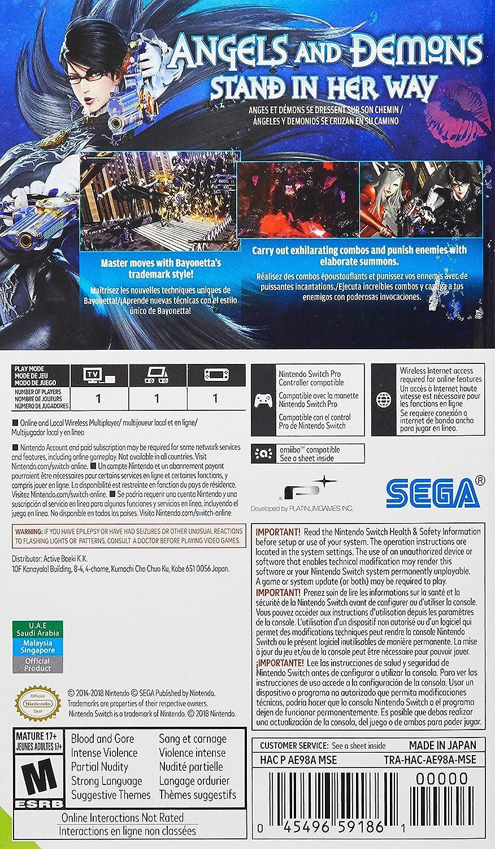 Amazon com: Bayonetta 2 (Physical Game Card) + Bayonetta (Digital