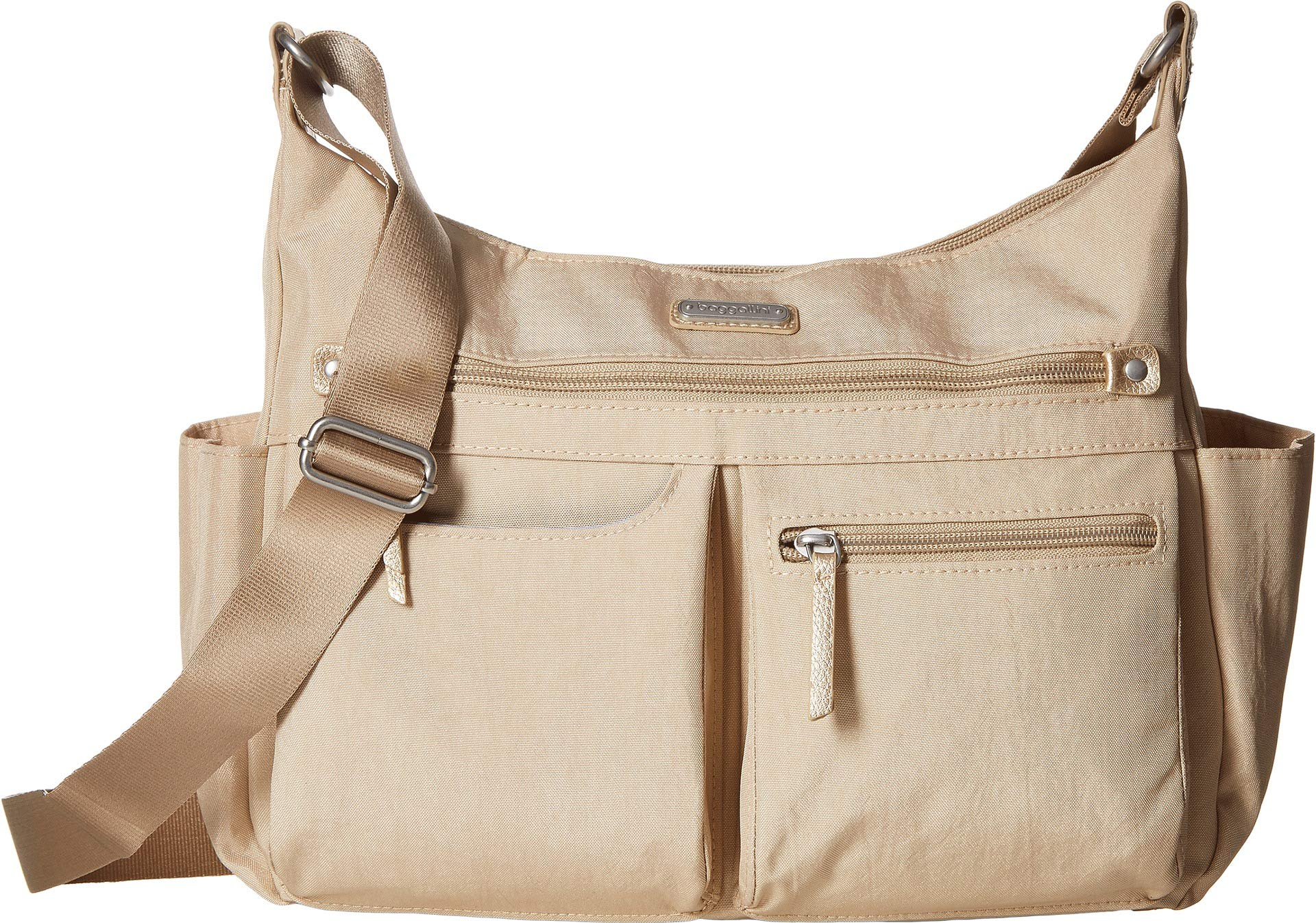 Baggallini Women's New Classic''Heritage'' Anywhere Large Hobo with RFID Phone Wristlet Champagne Shimmer One Size