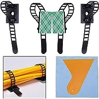100 Pcs Bridas para Cables Clips de Cable Ajustable Abrazaderas Autoadhesivas de Cable Organizador para Cables para…