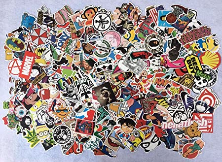 Amazon com 400pcs random decal graffiti sticker bomb laptop waterproof stickers skate mix lot toys games