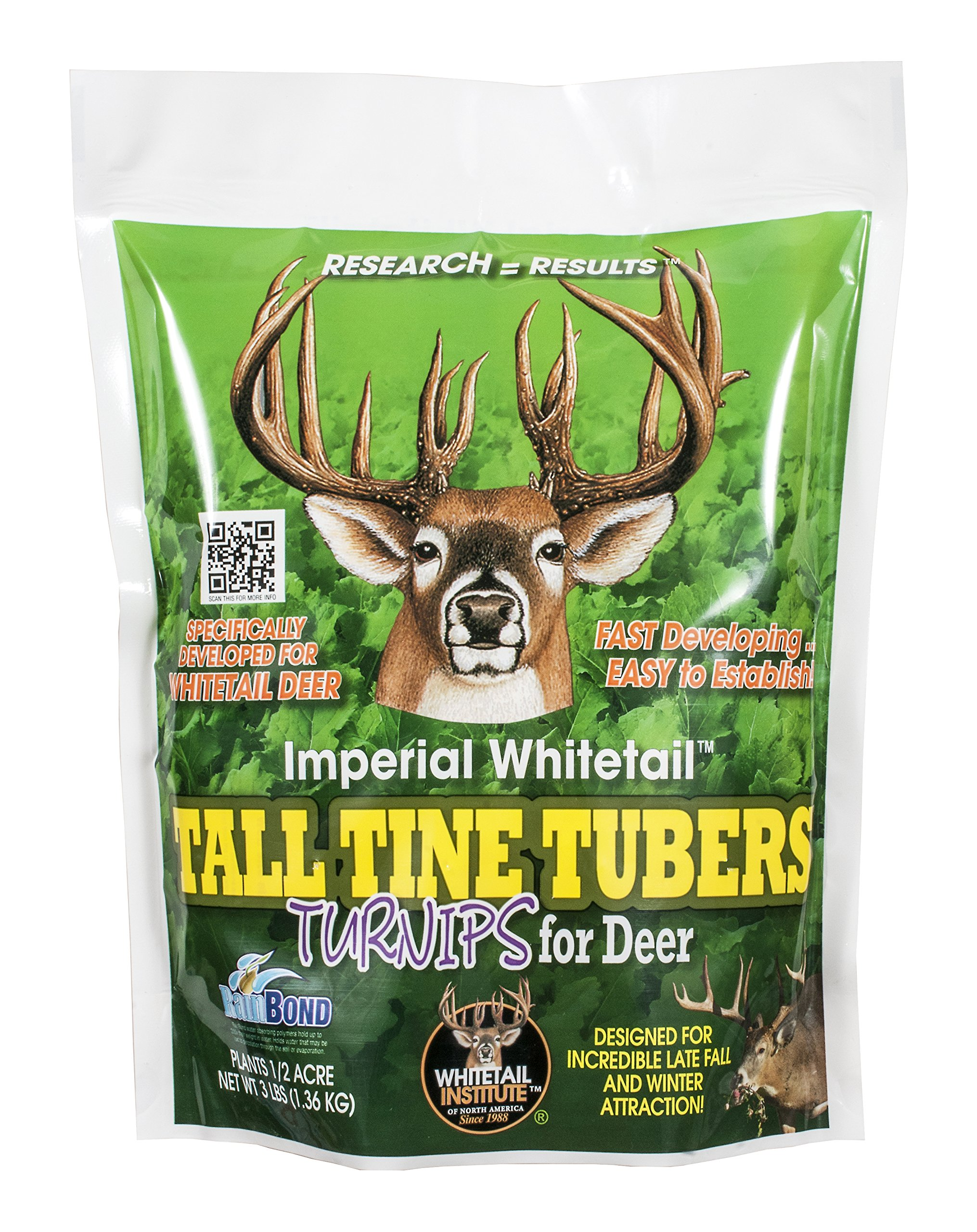 Whitetail Institute Imperial Tall Tine Tubers Food Plot Seed (Fall Planting), 3-Pound (.5 acres)