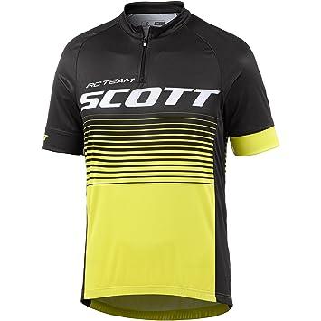 db31a153b Scott Cycling Jersey Black Yellow RC Team 2017