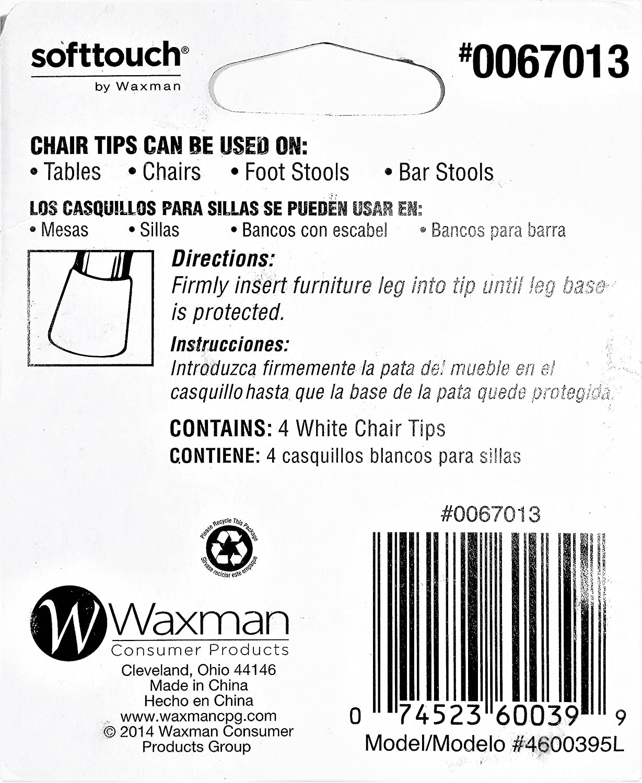 Chair Tips, White, 1