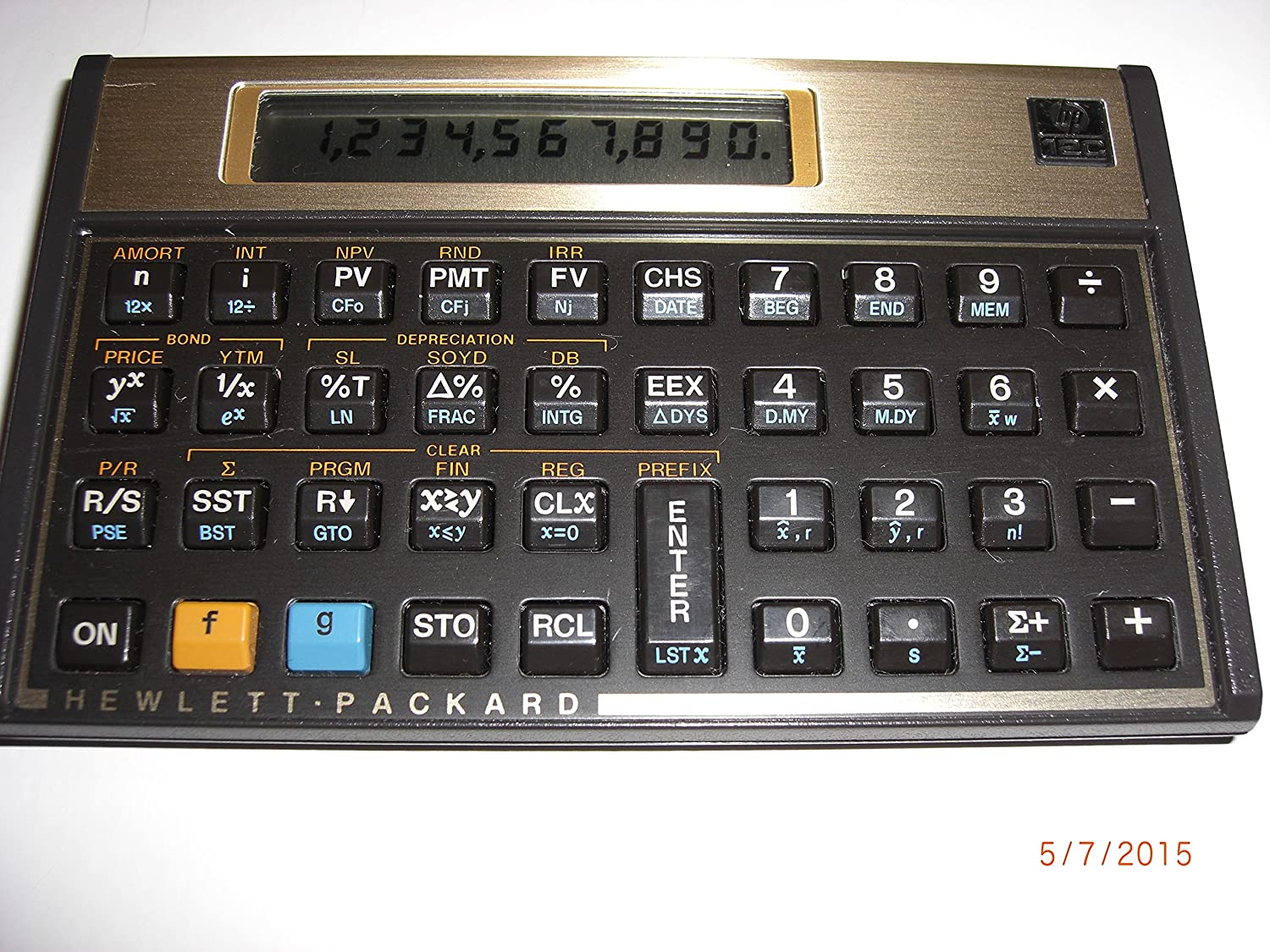 HP 12C Financial Calculator 45; Black47; Gold