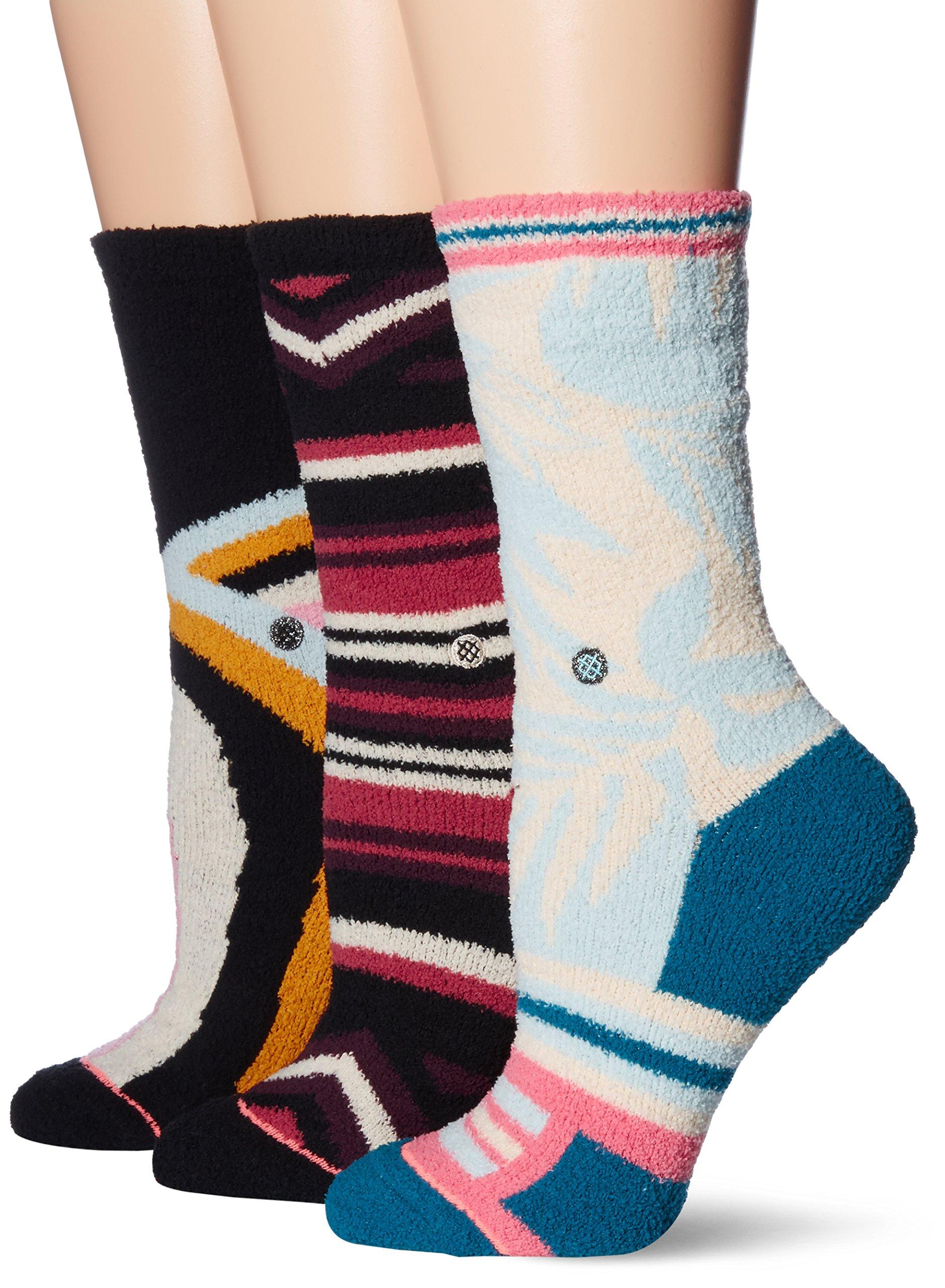 Stance Women's 3 Pack Holiday Socks Gift Box Set, Multi, Medium