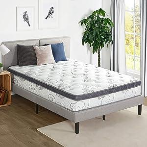 Olee Sleep 12 inch Hybrid Euro Box Top Pocket Spring Mattress (Queen)