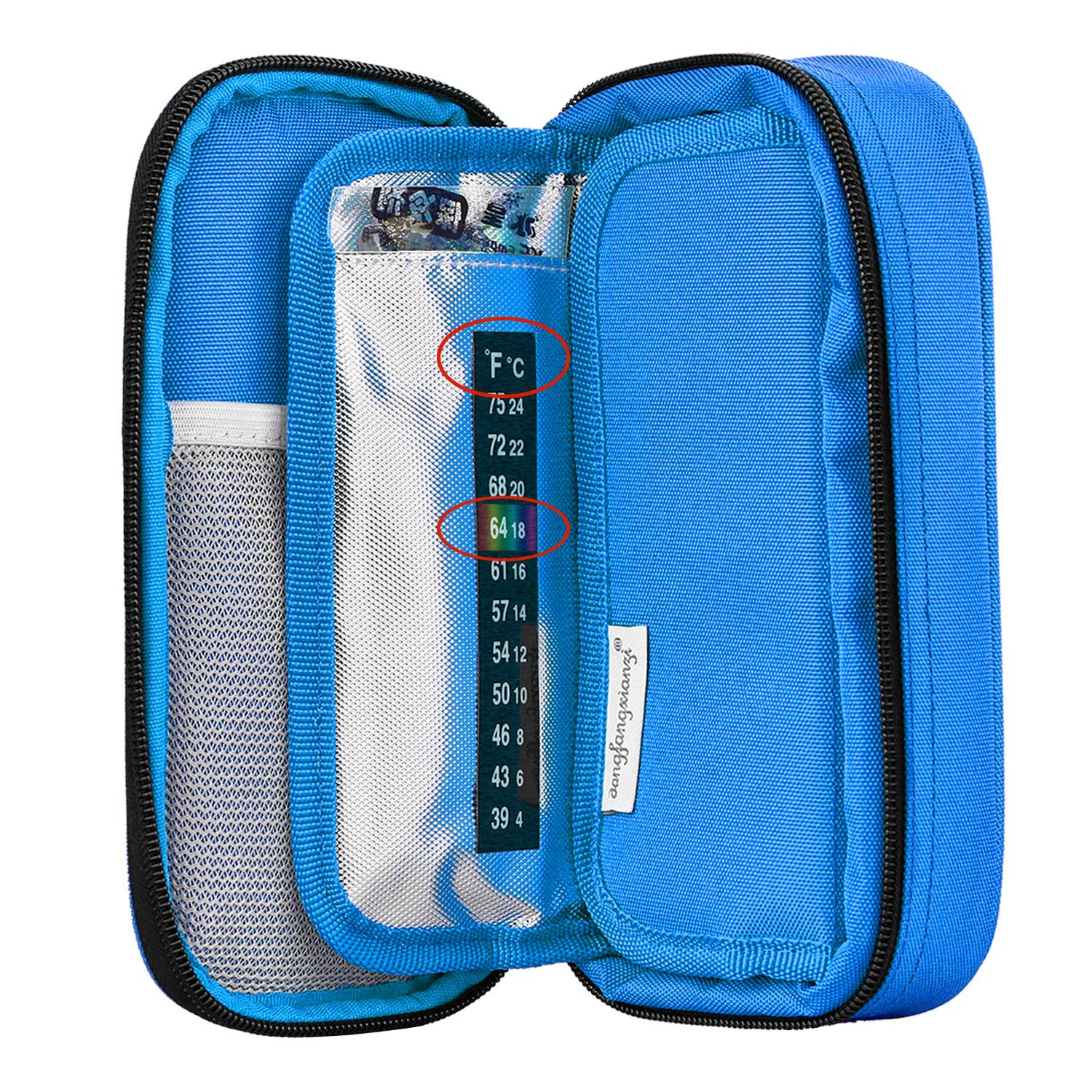 Medication Diabetic Insulated Organizer Portable Cooling Bag for Insulin Pen and Diabetic Supplies with 2 Cooler Ice Pack Purple YOUSHARES Insulin Cooler Travel Case