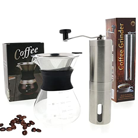 Amazon Com Ultimate Pour Over Coffee Maker Kit Precision Stainless