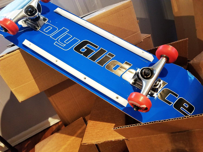 PolyGlide Synthetic Ice Skateboard Rails - As Seen on Shark Tank - 14.5 Ice  Deck Rails PolyGlide Ice 6e475b2cad5