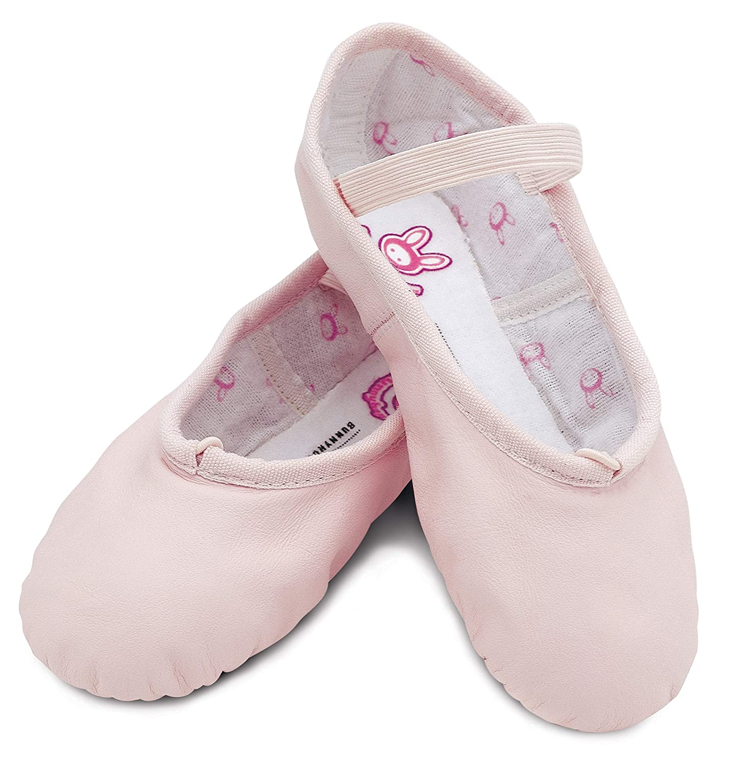 3 M US Big Kid Bloch Dance Girls Bunnyhop Full Sole Leather Ballet Slipper//Shoe Dance Pink