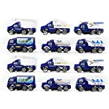 Fusine™ - Set of 12 Die Cast Plastic Self Push Play Toy ( Collectibles ) Car, truck, van (Airdrome Catena)