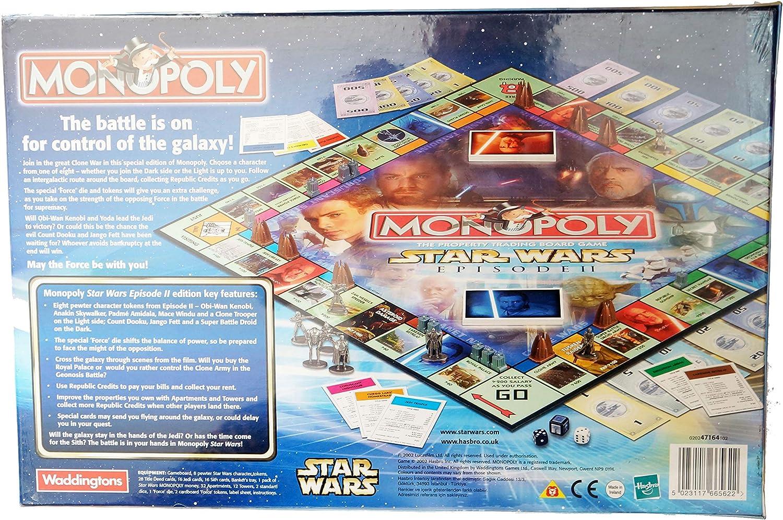 Waddingtons Board Game 47164 - Monopoly Star Wars Episode II Collector Edition: Amazon.es: Juguetes y juegos