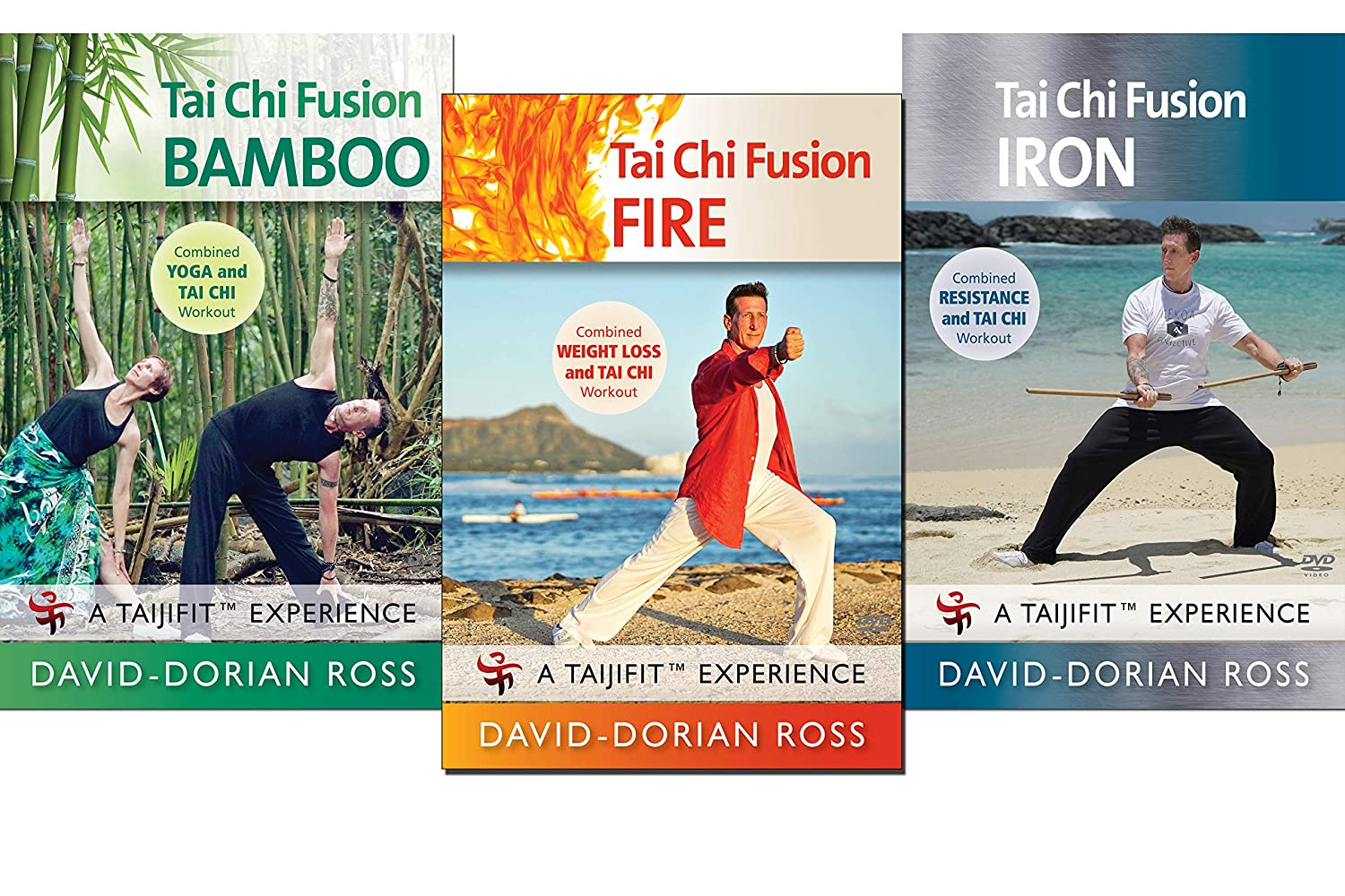 Amazon.com: Tai Chi Fusion by David-Dorian Ross 3-DVD Bundle ...