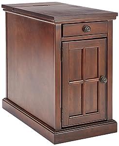 Ashley Furniture Signature Design - Laflorn Chair Side End Table - Rectangular - Dark Brown