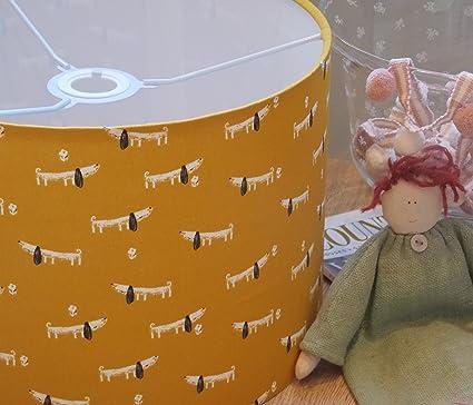 Tambor de mano de 30 cm), color mostaza Perros Amarillo ...
