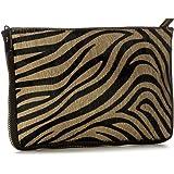 Big Handbag Shop Small Genuine Leather with Calf Fur Zip Clutch Shoulder Bag 90778d7ac6