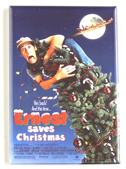 ernest saves christmas movie poster fridge magnet 25 x 35 inches - Ernest Saves Christmas