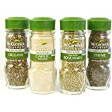 McCormick Gourmet Organic Garlic & Herbs Everyday Basics Variety Pack (Oregano, Garlic Powder, Crushed Rosemary, Thyme…